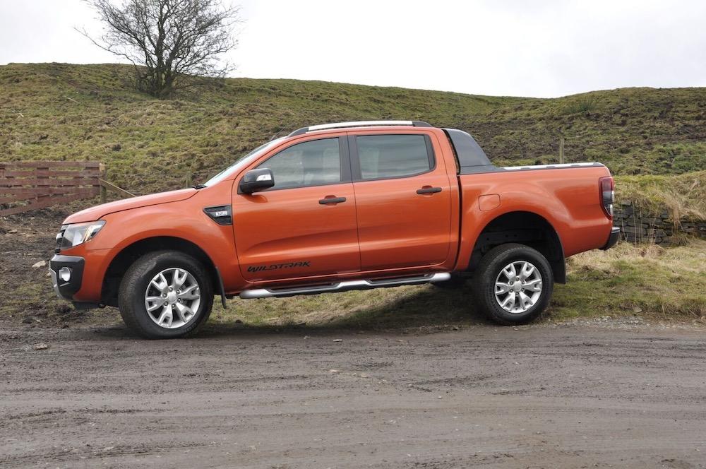 Ford Ranger Wildtrak orange side