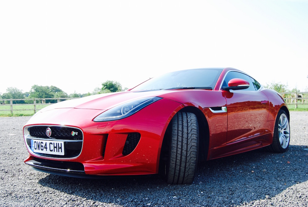 Jaguar F-Type R Coupe front red