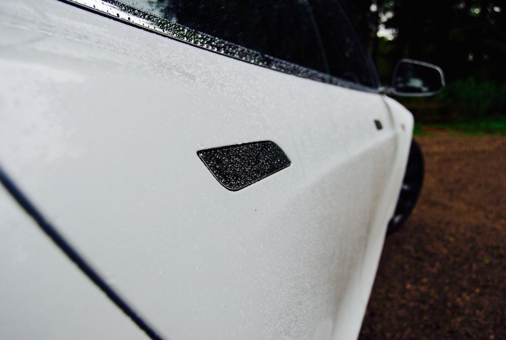 Tesla Model S white door handle