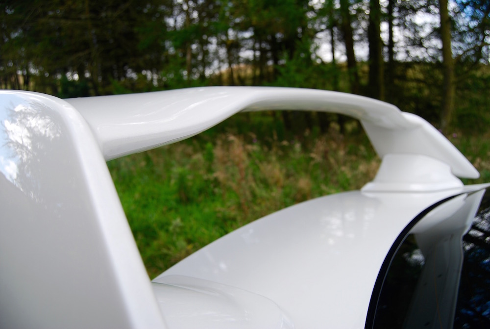 Subaru WRX STI rear wing white
