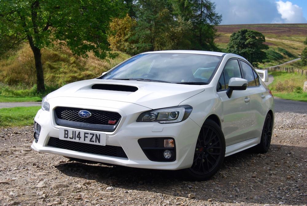 Subaru WRX STI white front