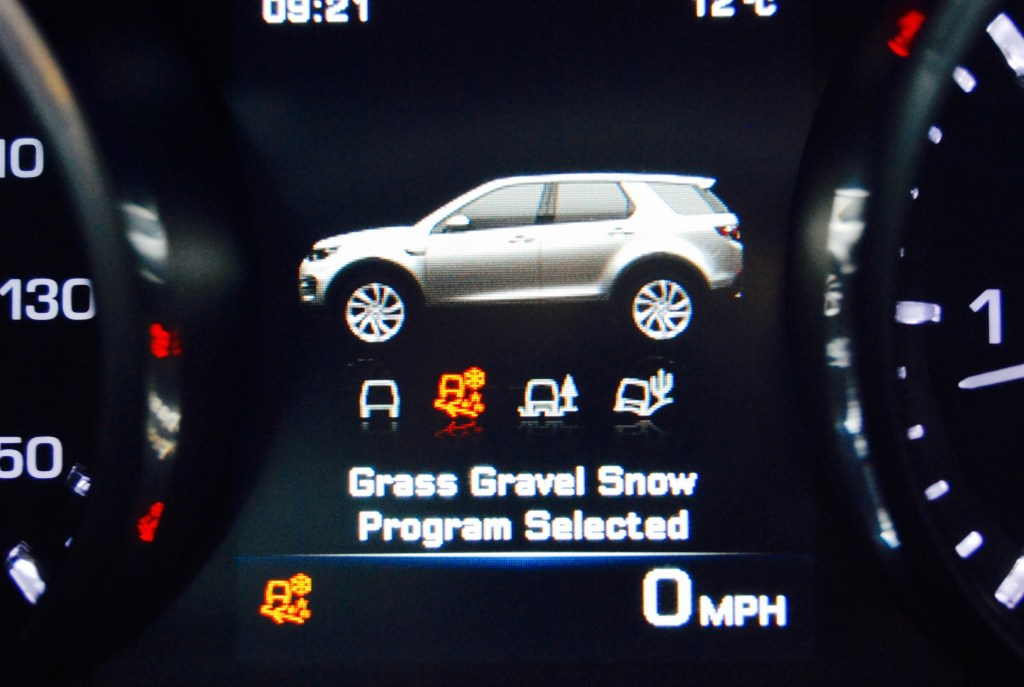 Discovery Sport program selector