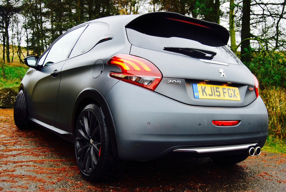 208 gti by peugeot sport grey rear