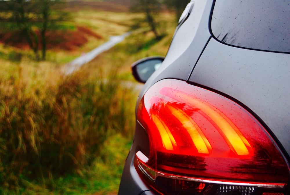 208 gti by peugeot sport rear light