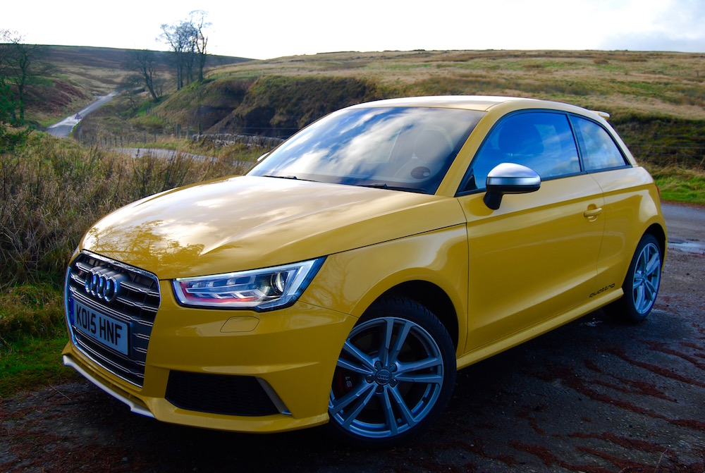 Audi S1 Vegas Yellow front side