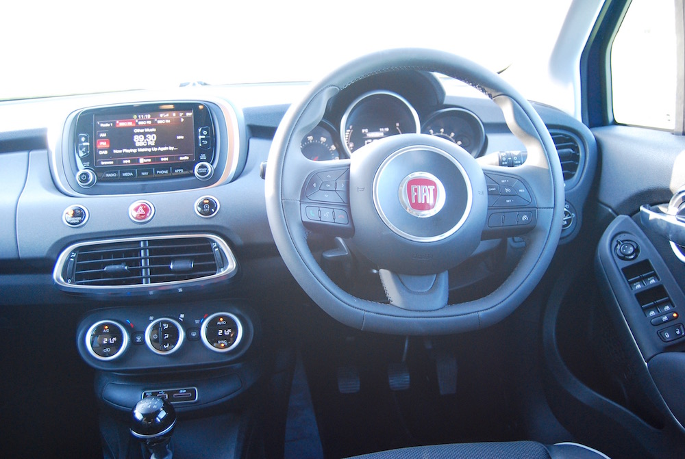 Fiat 500x off road interior