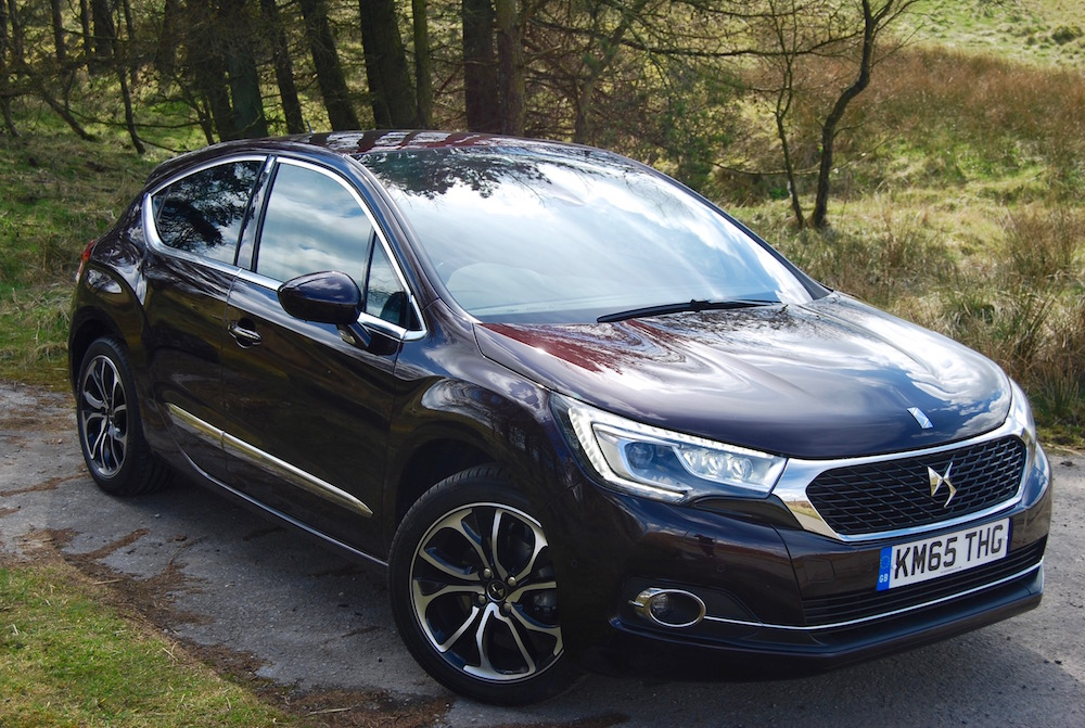 citroen ds 4 front side review purple