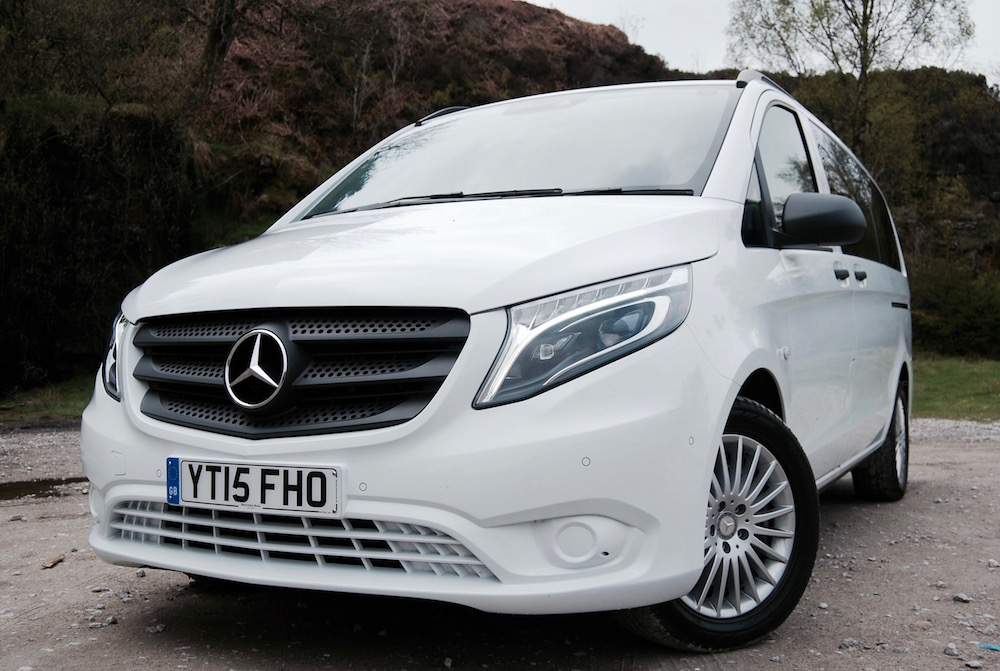 mercedes benz vito tourer front white