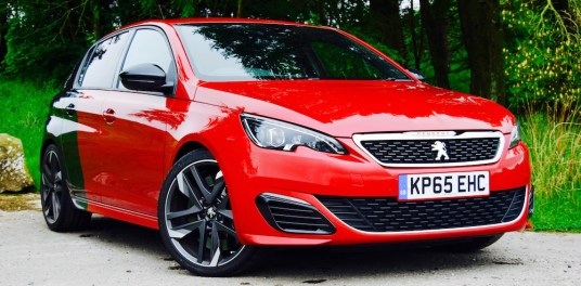Peugeot 308 GTi coupe franche black red review