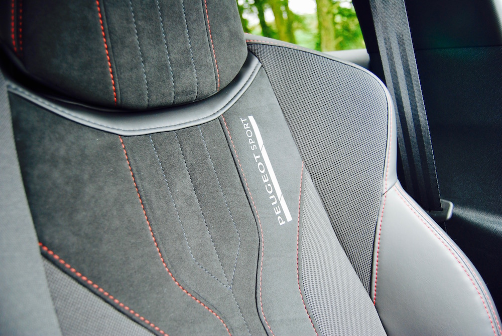 Peugeot sport front seats 308 GTi review