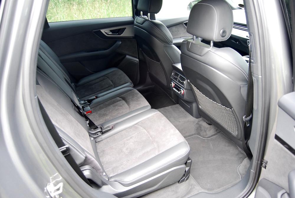 audi q7 review rear seats