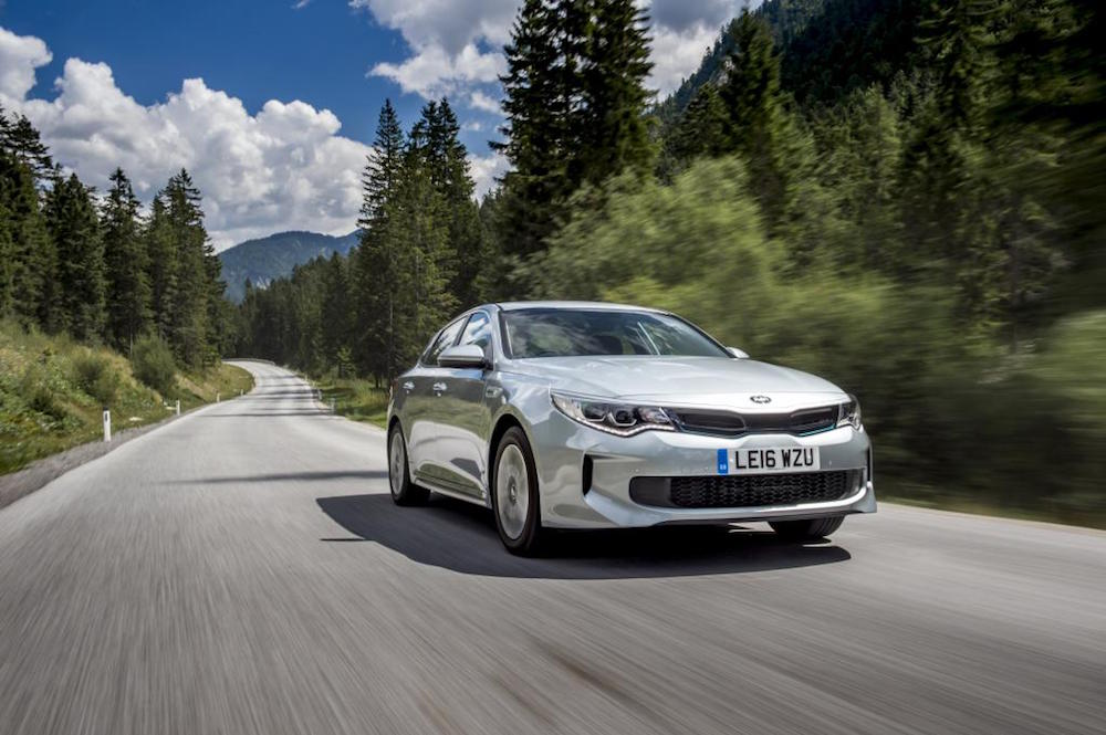 new kia optima phev hybrid review front