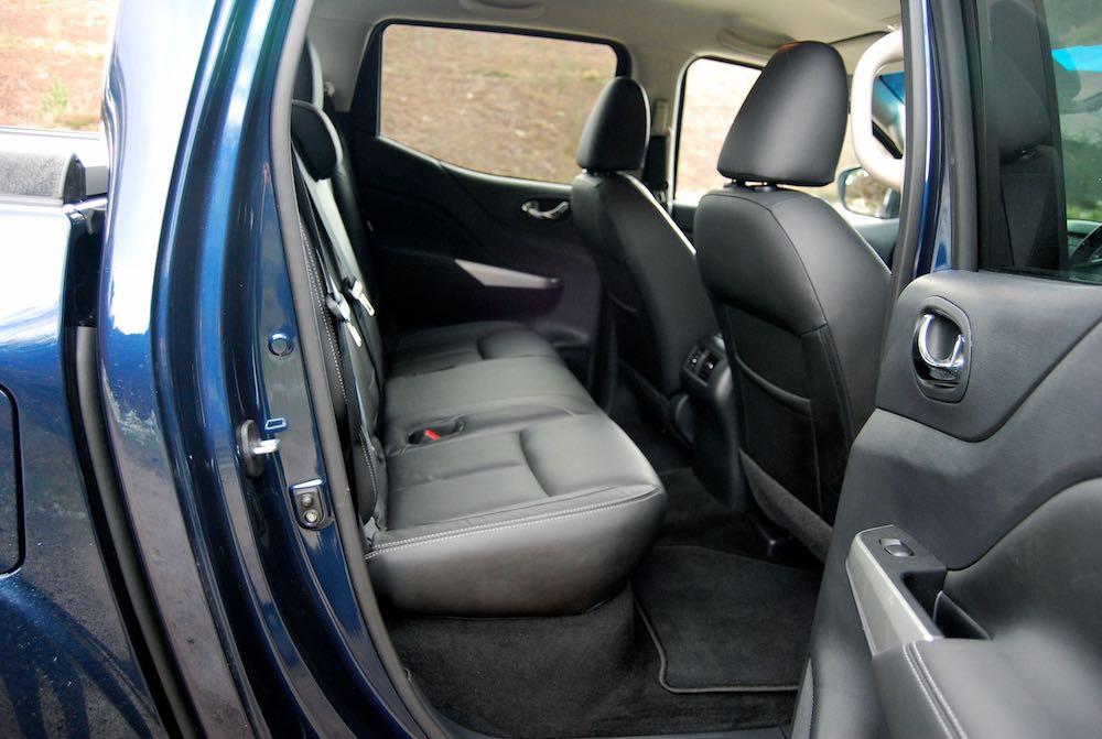 Nissan Navara rear seats blue