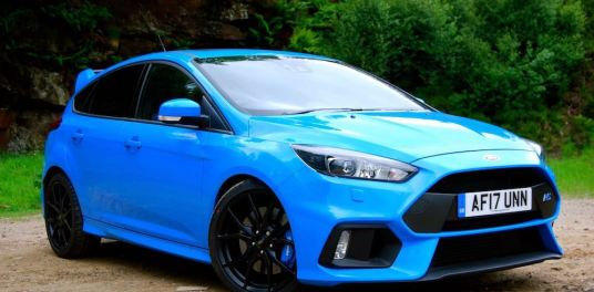 Ford Focus RS Nitrous Blue front side