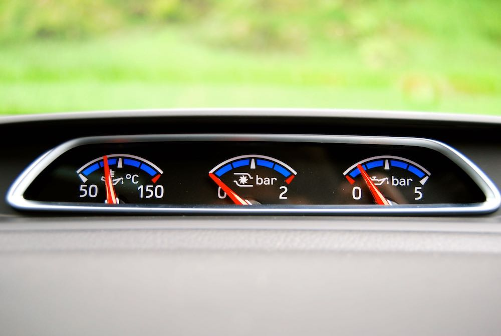 Ford Focus RS boost gauges