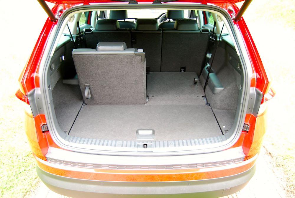Skoda Kodiaq boot 6 seats