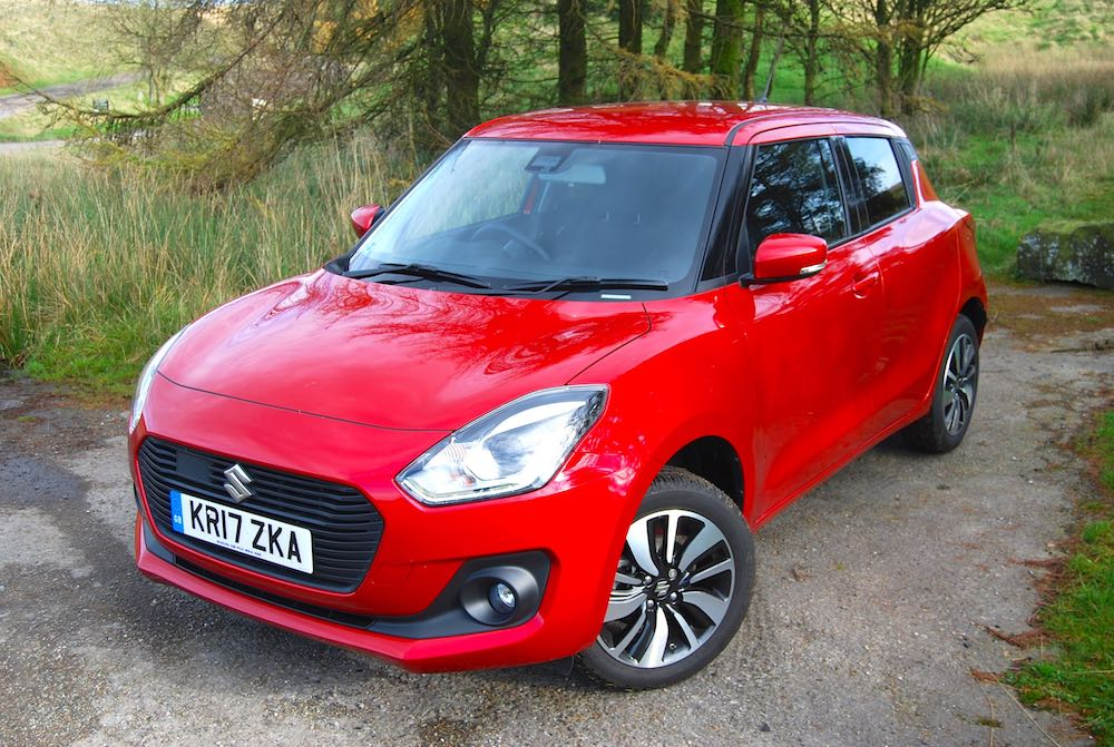 suzuki swift red front side