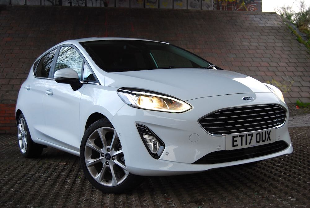 new ford fiesta front side white