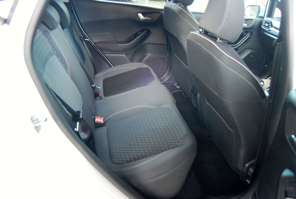 new ford fiesta rear seat