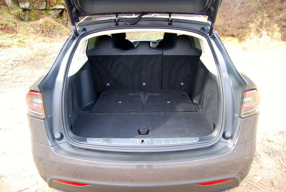 Tesla Model X rear boot trunk