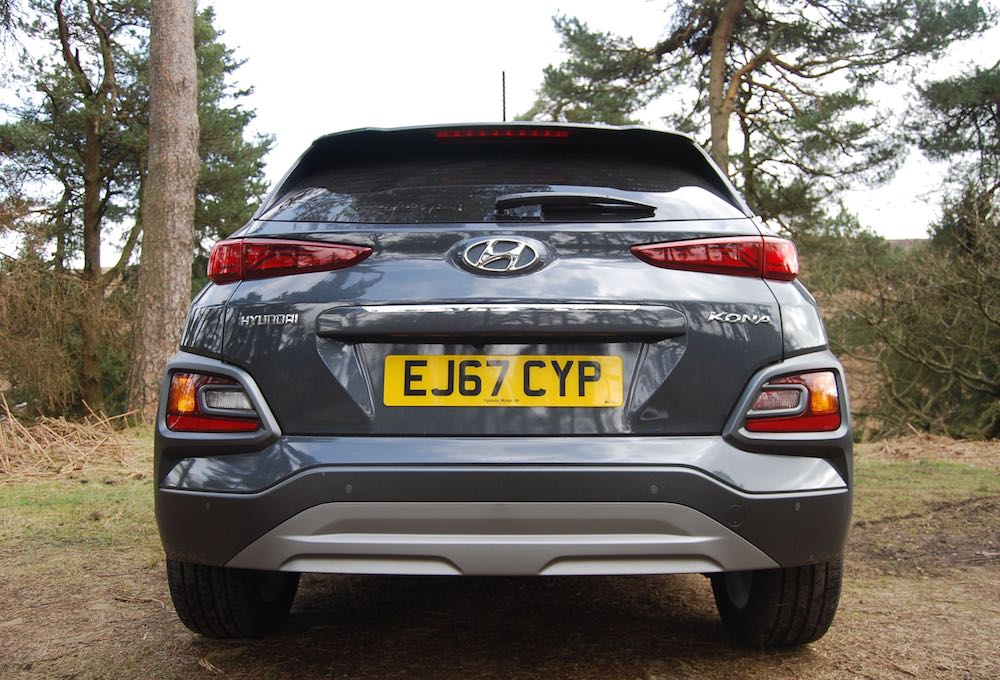 hyundai kona rear grey