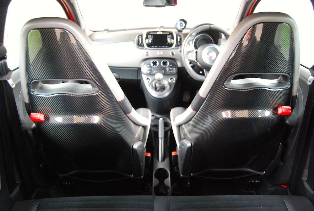 abarth 595 competizione carbon seats
