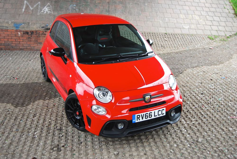 abarth 595 competizione red high front