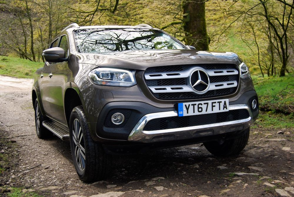 mercedes x-class front side off road bronze