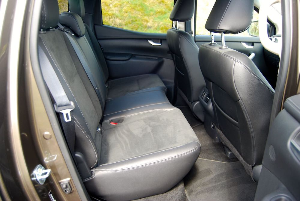 mercedes x-class rear seats