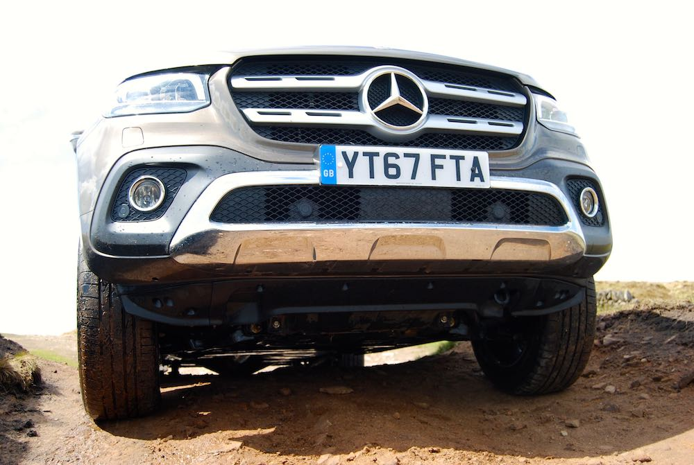 mercedes x-class underneath front