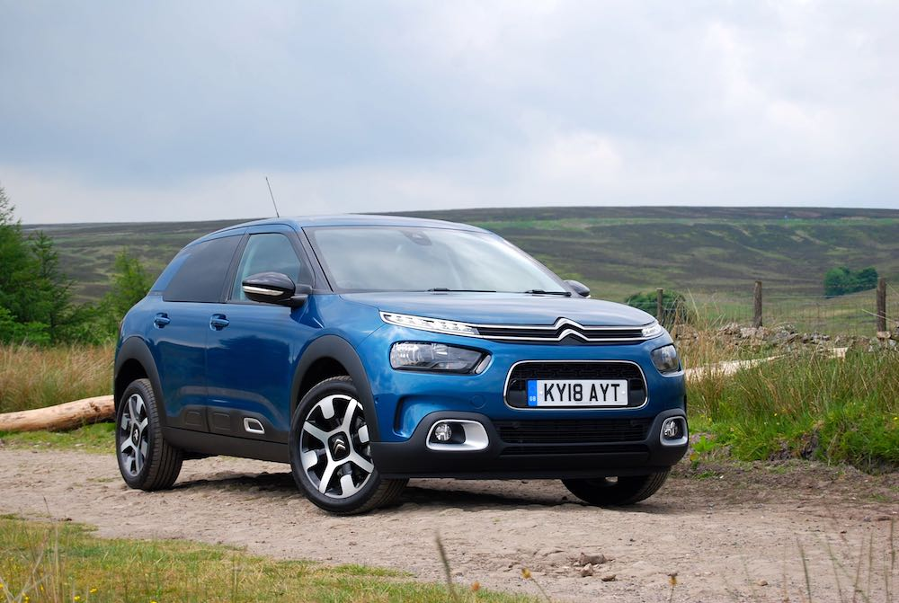 2018 citroen c4 cactus blue front side