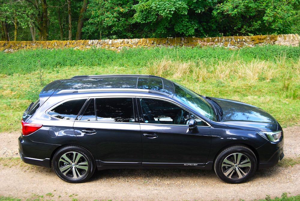 Subaru Outback grey side high
