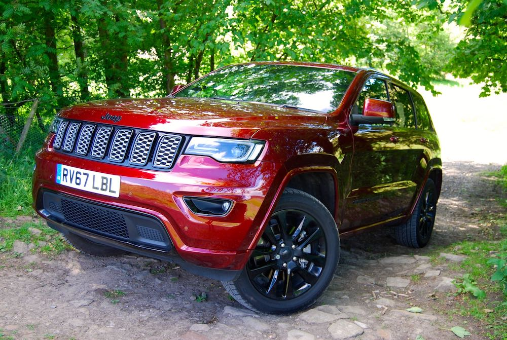 jeep grand cherokee night eagle velvet red front side