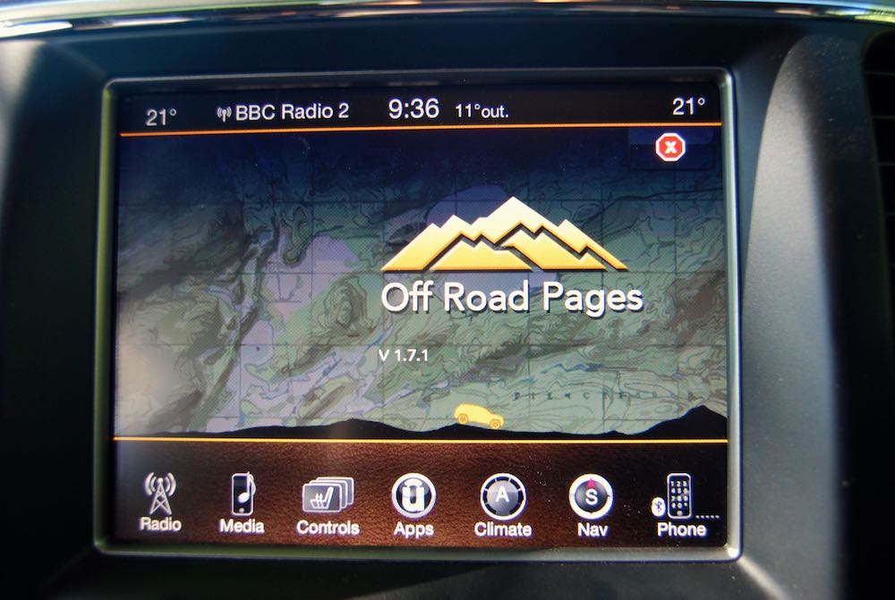 jeep grand cherokee off road app