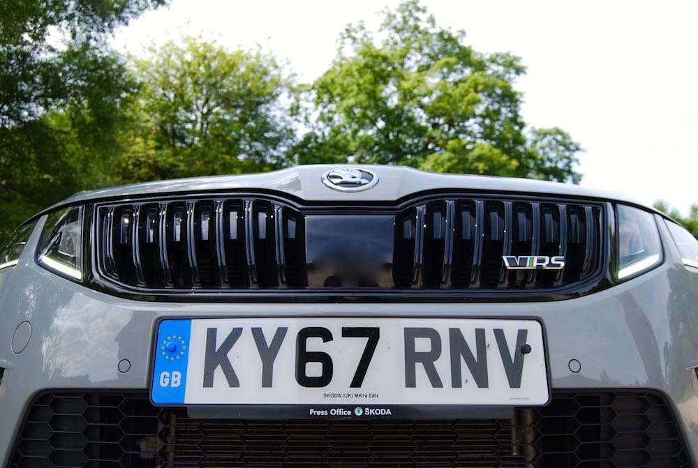 Skoda Octavia vRS 245 black grille