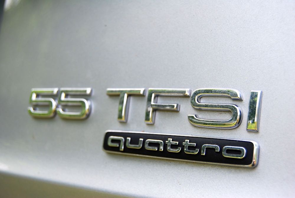 audi a8 review 55 tfsi quattro badge