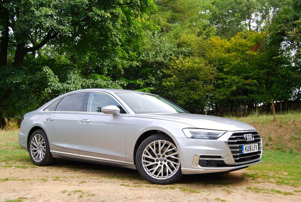 audi a8 review front side silver