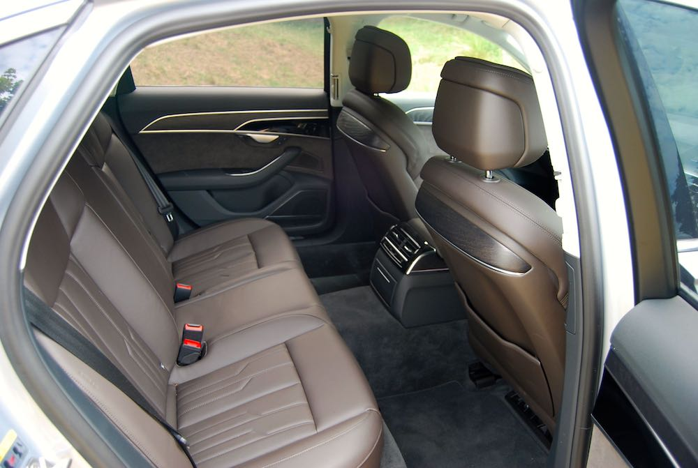 audi a8 review rear seats