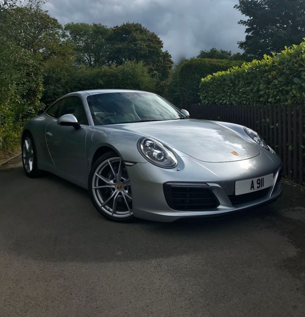 Porsche 911 991 silver front side review roadtest