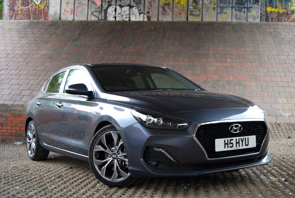 hyundai i30 fastback front side grey review