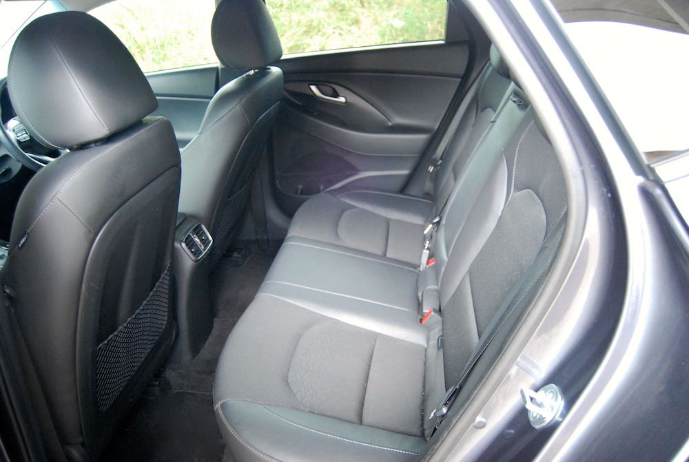hyundai i30 fastback review rear seats