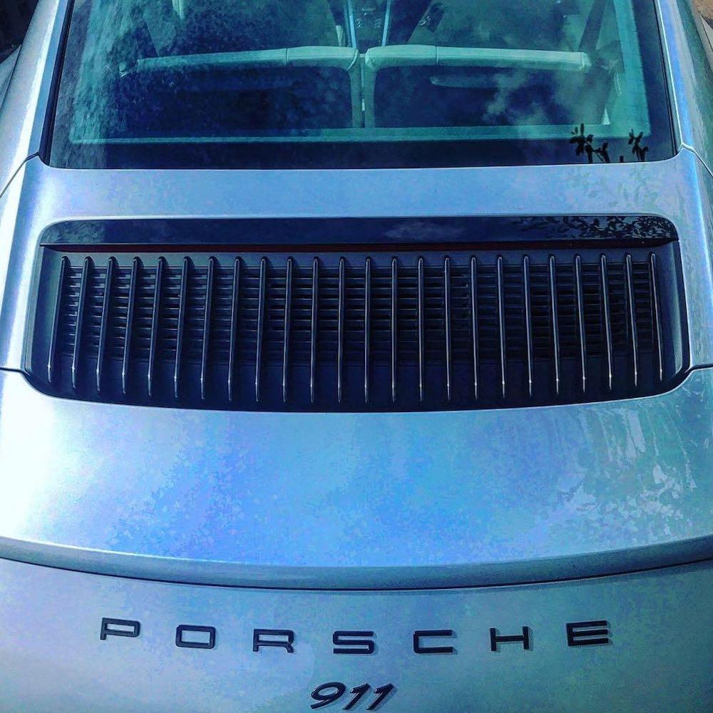 porsche 911 991 rear engine lid review roadtest silver