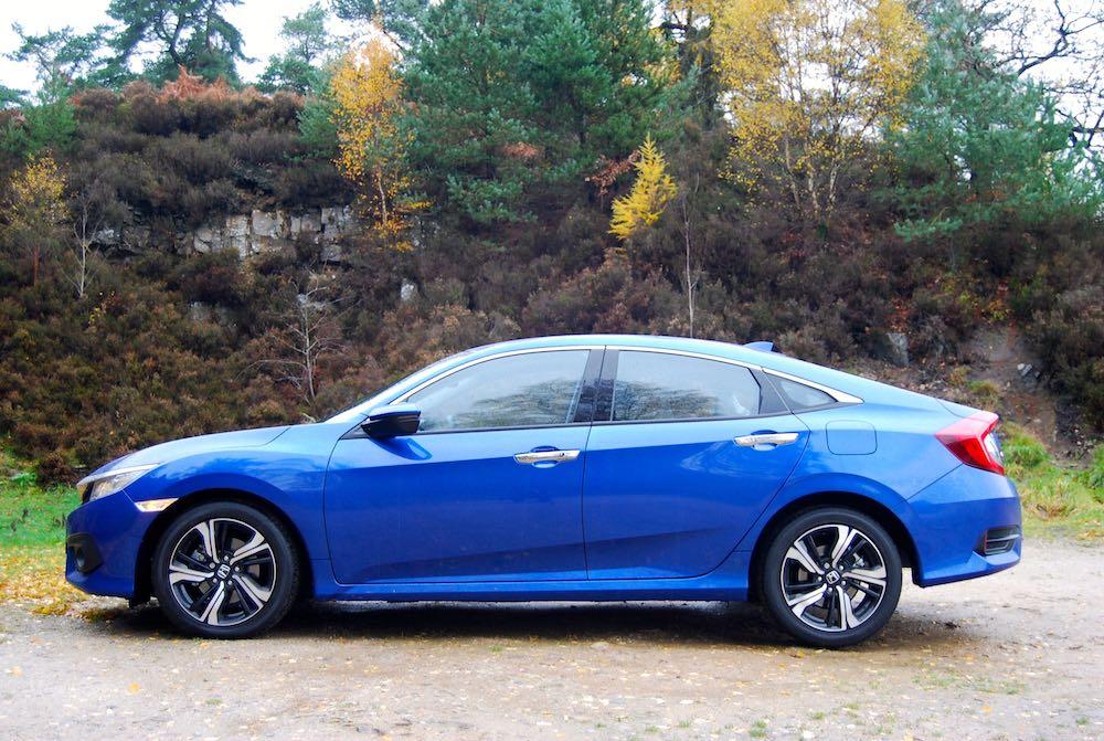honda civic 4 door sedan saloon side blue review roadtest