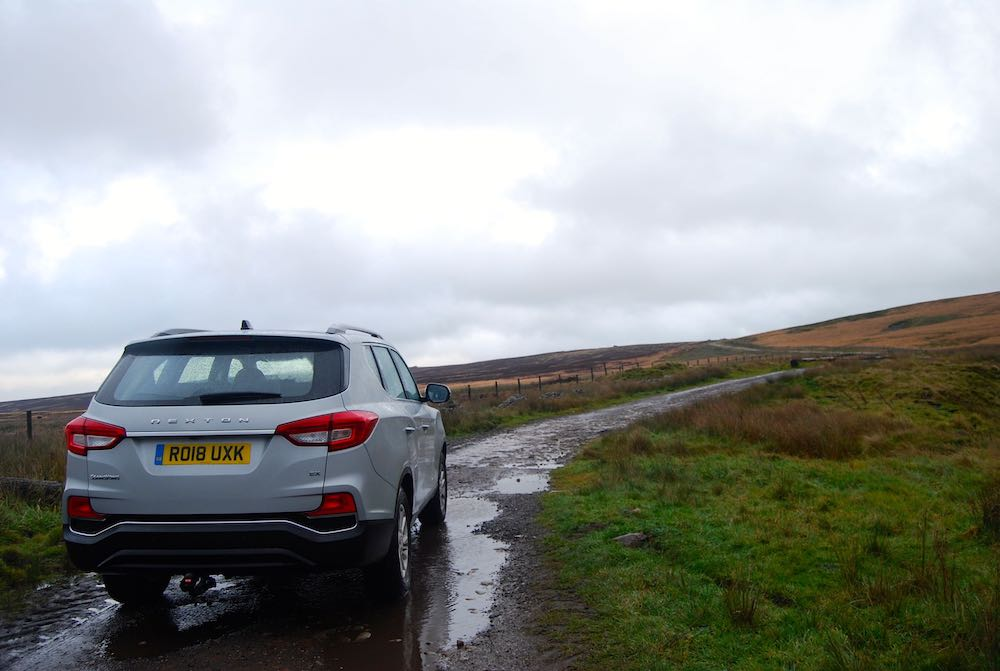 ssangyong rexton silver rear off road review