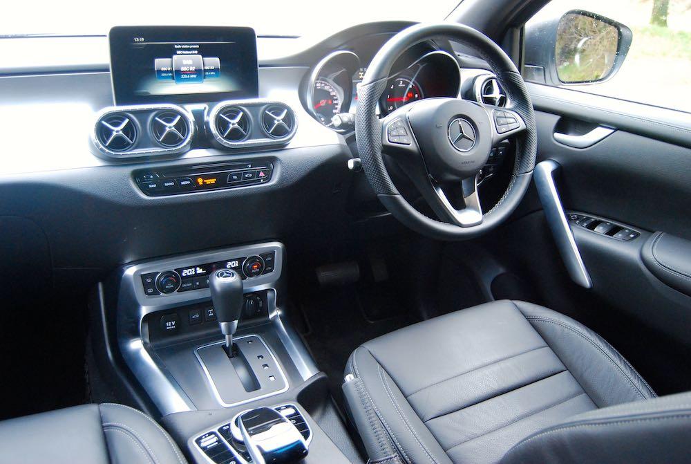 mercedes-benz x350d interior review roadtest