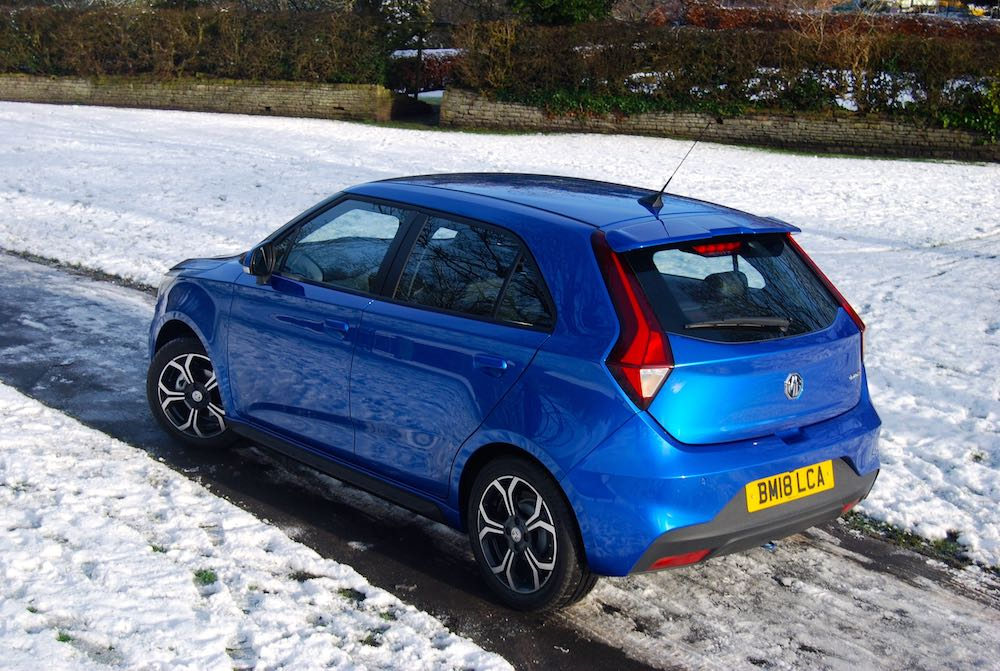 new 2018 mg3 blue rear side review roadtest