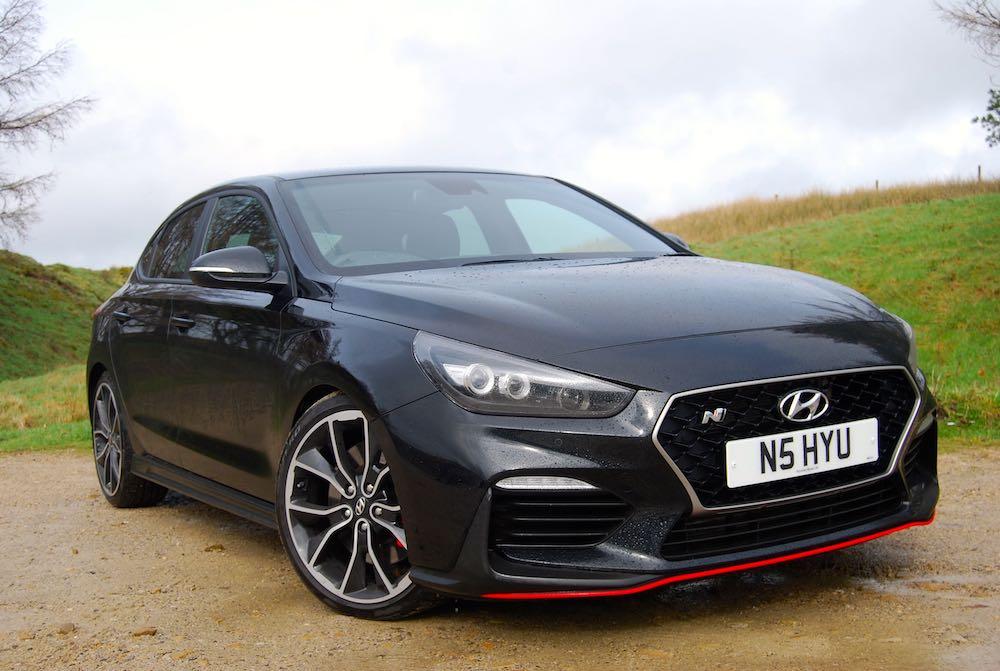 hyundai i30 fastback n black front side review roadtest