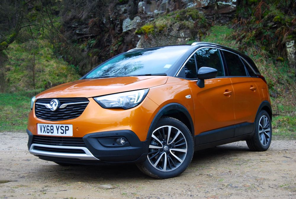 vauxhall crossland x front side orange review roadtest