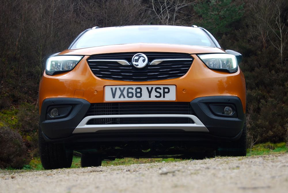 vauxhall crossland x orange front review roadtest