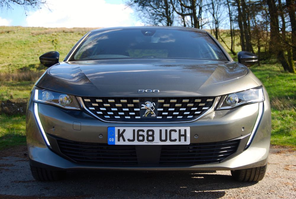 peugeot 508 green grey front grille review roadtest